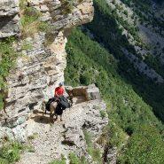 Ausgesetzter Weg ins Tal von Rjoll