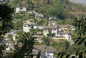 Alte Häuser in Gjirokastra, Albanien