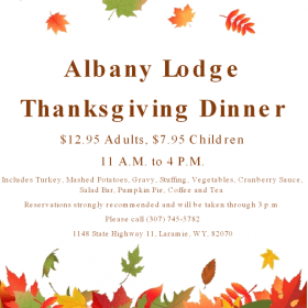 Albany Lodge Thanksgiving Dinner