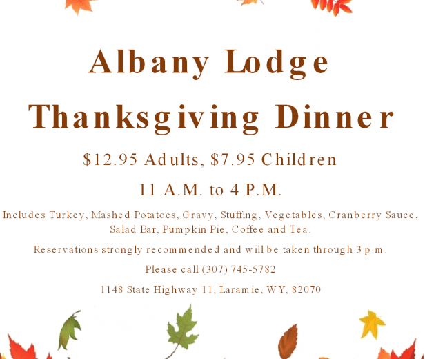 Albany Lodge Thanksgiving Dinner