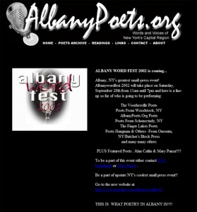 2002 Albany Poets website