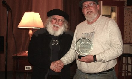 Alan Casline Receives 2012 Arthur Dare Willis Award at Sunday Four Poetry Open Mic