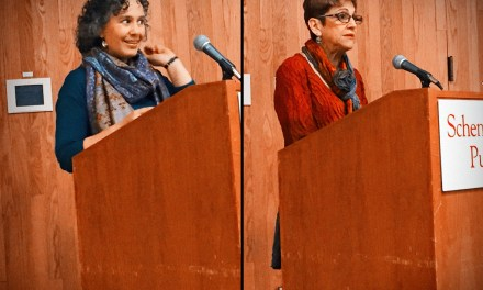 Kelly de la Rocha and Leslie Neustadt at Schenectady Community of Writers – November 22, 2015