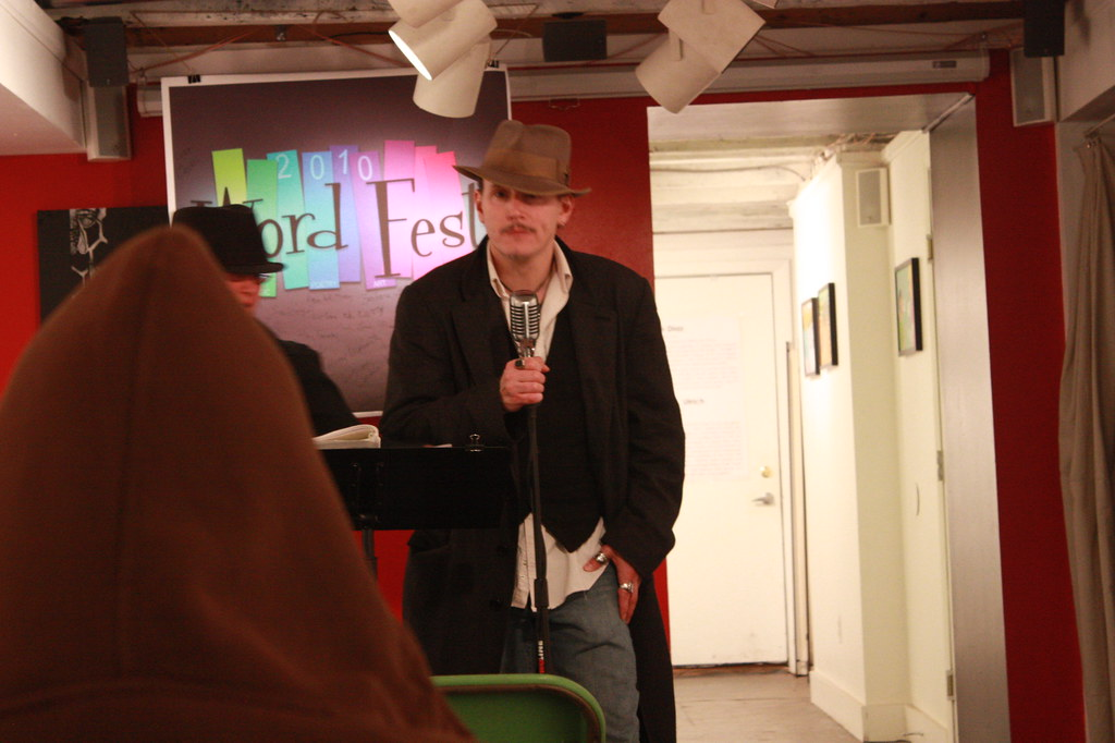 R.M. Engelhardt at the 2010 Word Fest