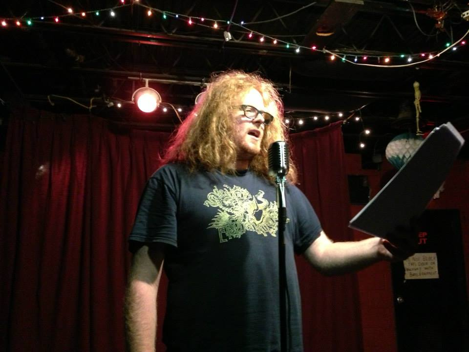 Brett Petersen reading at Nitty Gritty Slam event at Valentines in Albany, NY