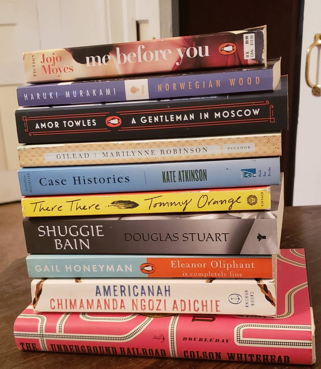 A stack of books that Don Levy hopes to read in 2021