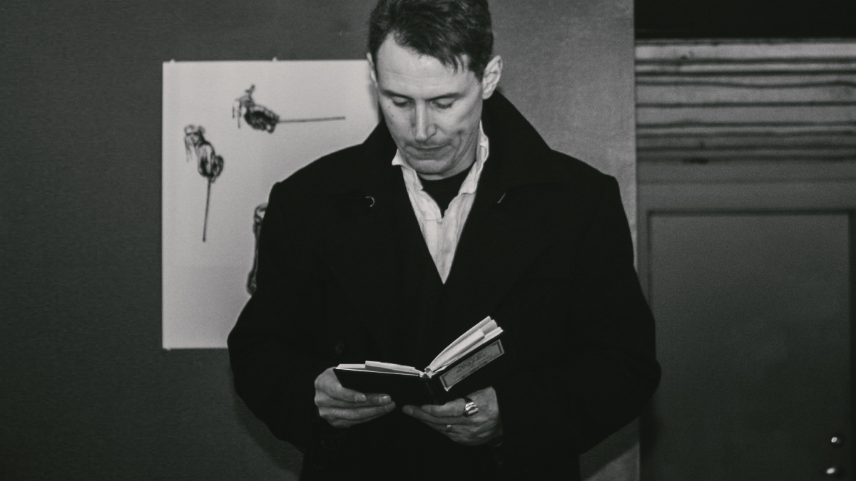 """R.M. Engelhardt """"St. Poem: Occupy the Word"""" Reading at UAG Gallery, Albany, NY, January 16, 2012"""