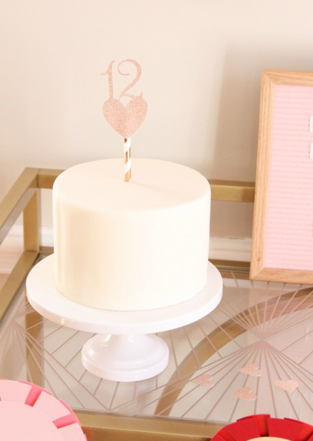 12Th Birthday Cake Rose Gold 12th Birthday Cake Topper 12 Cake Pick With Heart Etsy