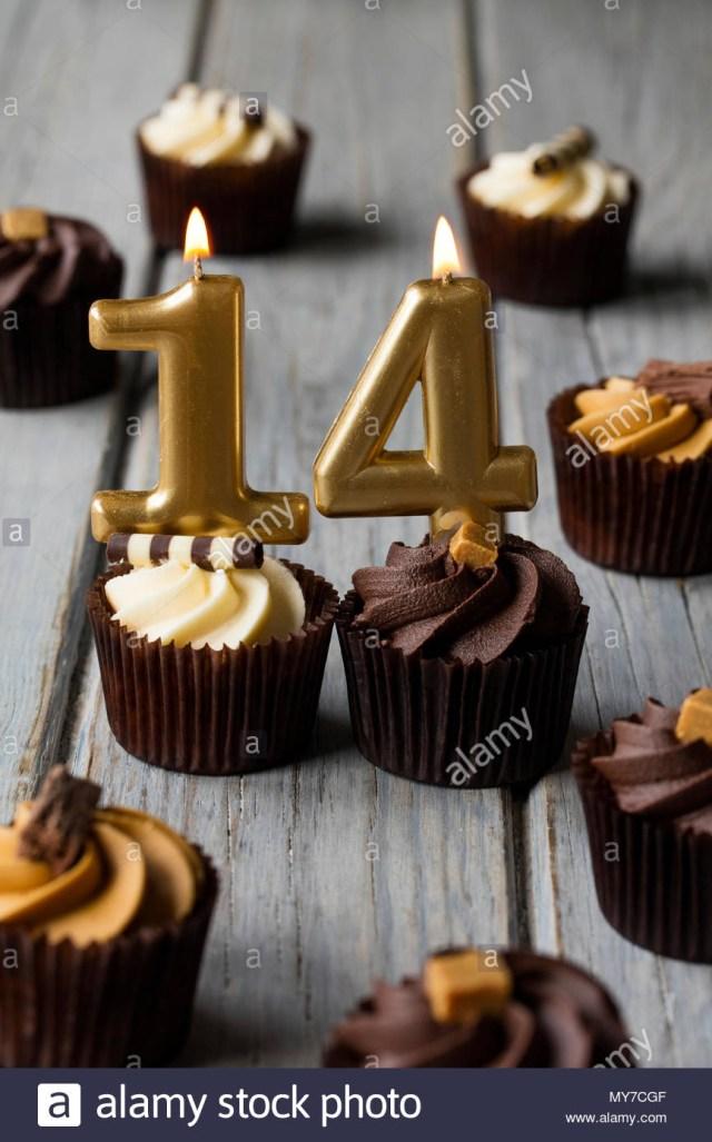 14Th Birthday Cake Happy 14th Birthday Cake Stockfotos Happy 14th Birthday Cake