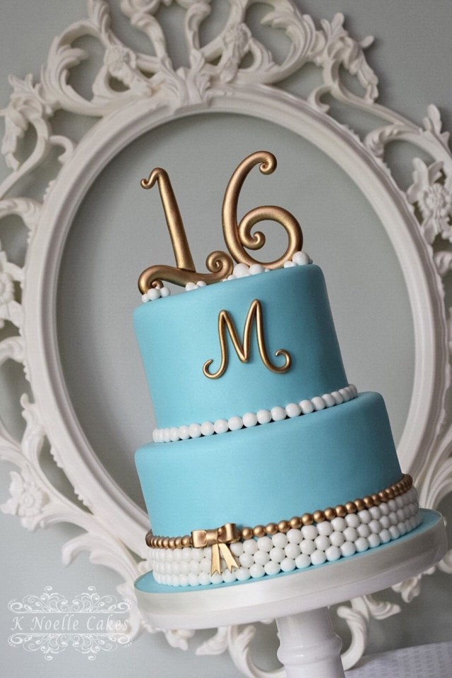 16 Birthday Cakes Sweet 16 Cake K Noelle Cakes Sweet 16 Pinte