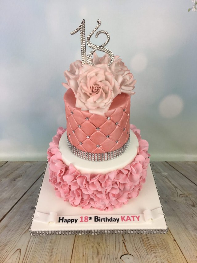 18 Birthday Cake Ruffles And Roses 18th Birthday Cake Mels Amazing Cakes