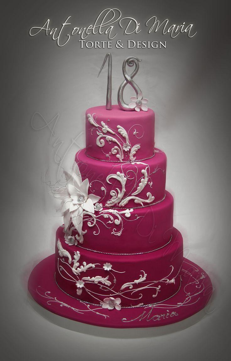 18Th Birthday Cake Designs Elegant 18th Cakes For Girls Found On Cakecentral