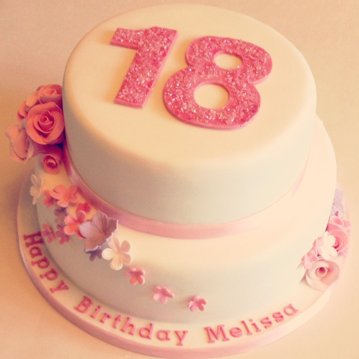 18Th Birthday Cake Designs Floral 18th Cakes Make The Pink A Mint Green And It