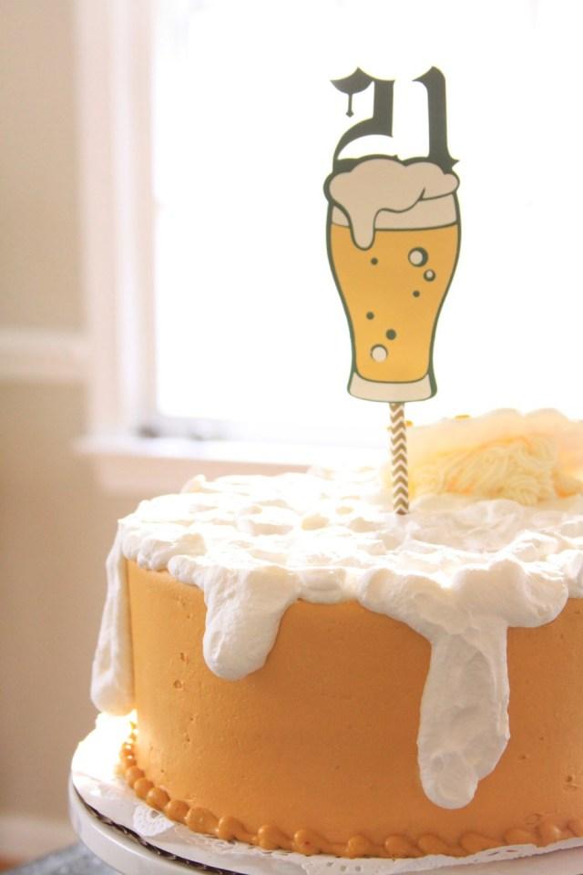 21St Birthday Cakes For Guys 21st Birthday Cake Topper Beer Topper 21st For Him 21 Cake Topper