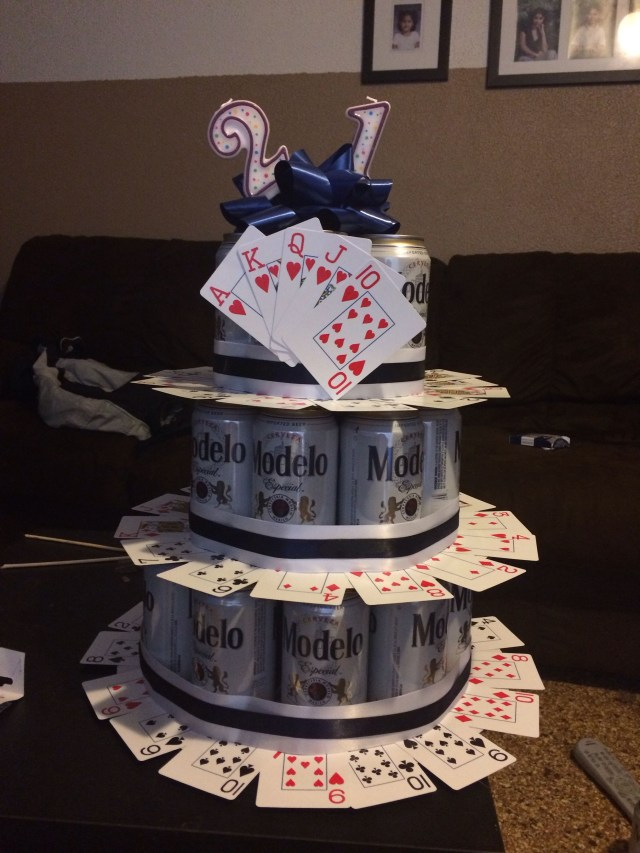 21St Birthday Cakes For Guys Fun 21st Birthday Beer Cake Idea For A Guy Diy 21st Birthday