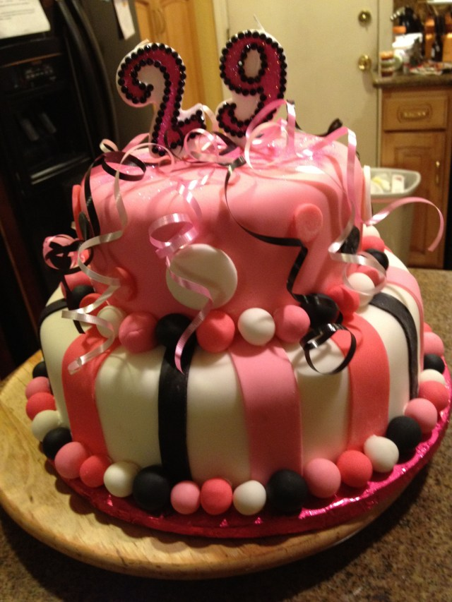 29Th Birthday Cake Enjoy Dum One More Year And You Are Officially An Old Lady Like Me