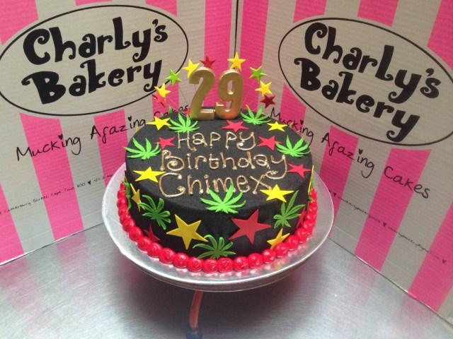 29Th Birthday Cake Rastafarian Dagga Cannabis Themed 29th Birthday Cake Wit Flickr