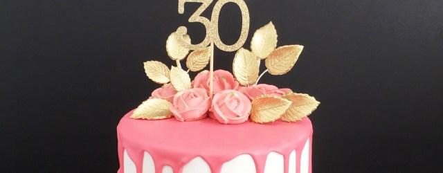 30Th Birthday Cake 30th Birthday Cake Topper Birthday Cake Topper 30 Fabulous Cake