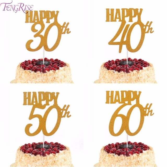 30Th Birthday Cake Hot Sale Fengrise 1pc Gold Happy 30th Birthday Cake Topper Happy 40