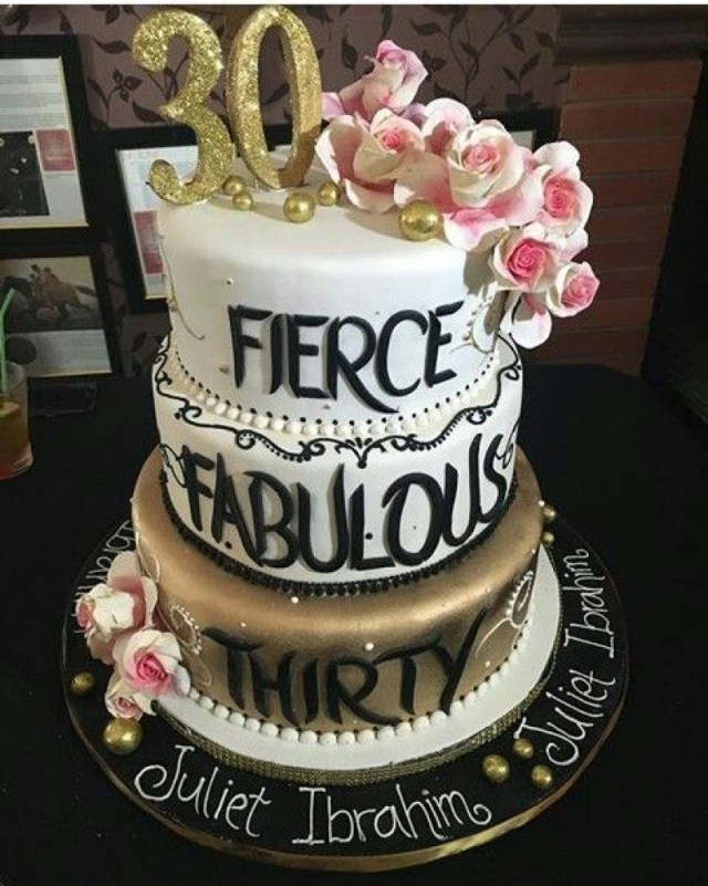 30Th Birthday Cake Ideas For Her 30th Doulacindy Throughout