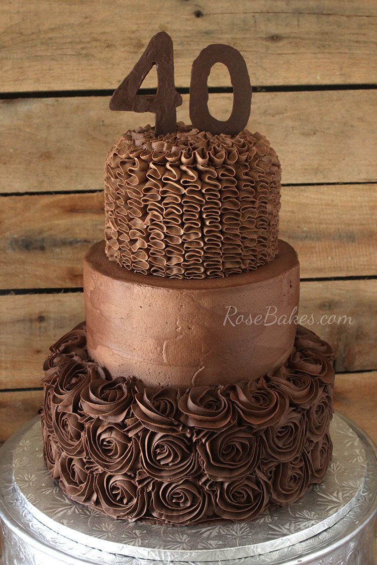 40Th Birthday Cake Ideas A Chocolate Chocolate 40th Birthday Cake Rose Bakes