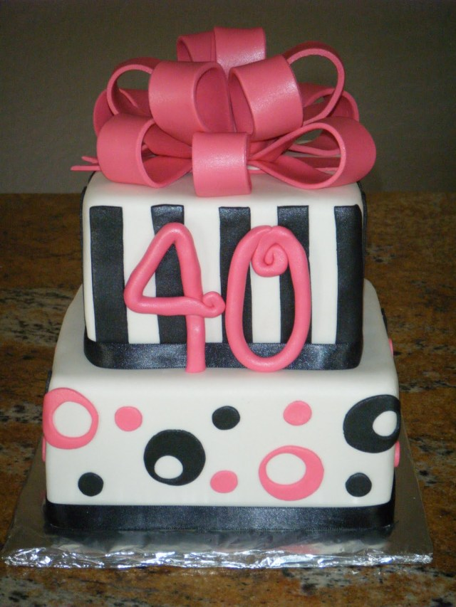 40Th Birthday Cake Ideas For Her 40th Birthday Cakes Classic Style Best 40th Birthday Cakes