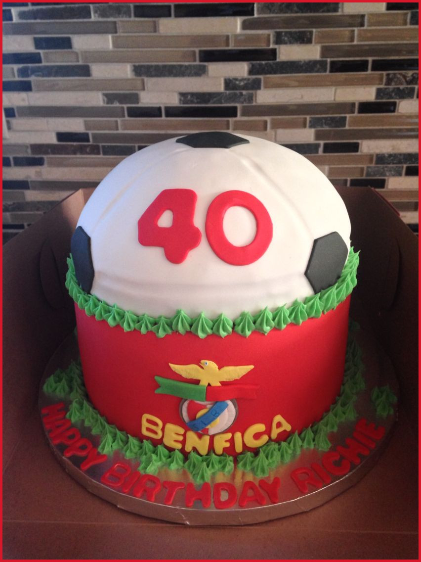 40Th Birthday Cake Ideas For Her 40th Cakes Him 209252 Benfica Themed
