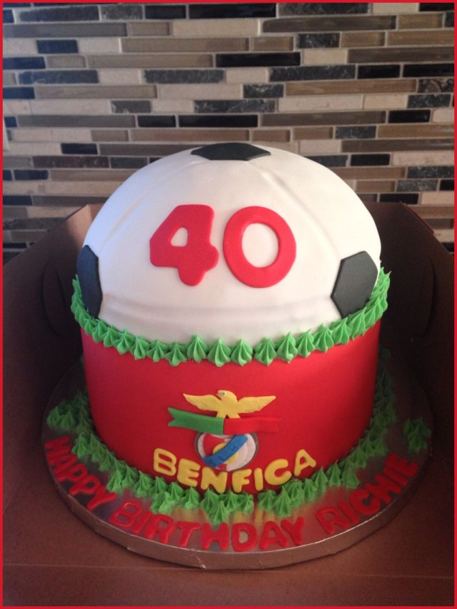 40Th Birthday Cake Ideas For Her 40th Birthday Cakes For Him 209252 Benfica Themed 40th Birthday Cake