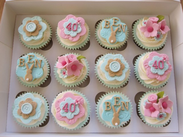 40Th Birthday Cake Ideas For Her Cupcakes Made For A Lady Who Was Celebrating Her 40th Birthday And