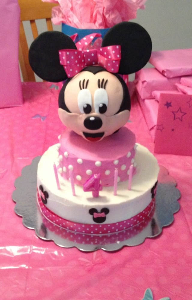 4Th Birthday Cake Minnie Mouse Birthday Cake Cakecentral