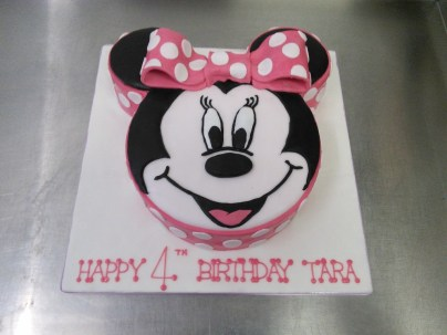 4Th Birthday Cake Minnie Mouse Face 4th Birthday Cake Crumbs Cake Shop Sheffield