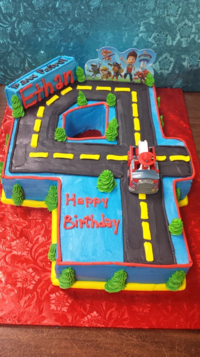 4Th Birthday Cake Paw Patrol 4th Birthday Cake Karens Cakes Kw At Tapps Cake