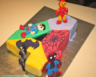 4Th Birthday Cake Super Hero 4th Birthday Party Healthfromhome