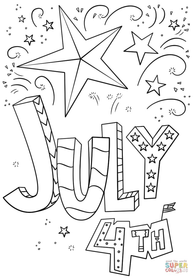 4th Of July Coloring Pages 4th Of July Doodle Coloring Page Free Printable Coloring Pages