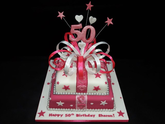 50Th Birthday Cake Ideas For Her 50th Birthday Cake 7 Steps With Pictures
