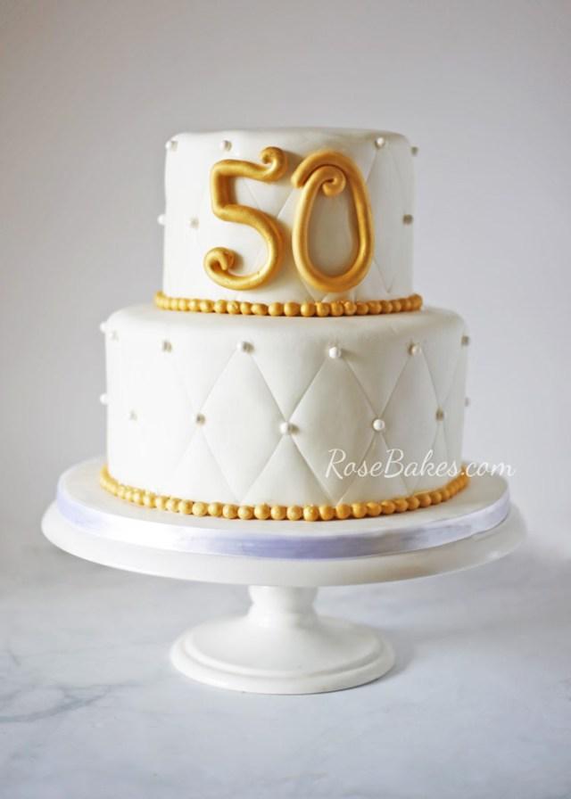 50Th Birthday Cake Images 50th Wedding Anniversary Cake Rose Bakes