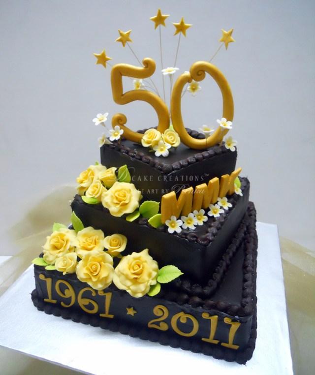 50Th Birthday Cakes 50th Birthday Chocolate Cake D Cake Creations
