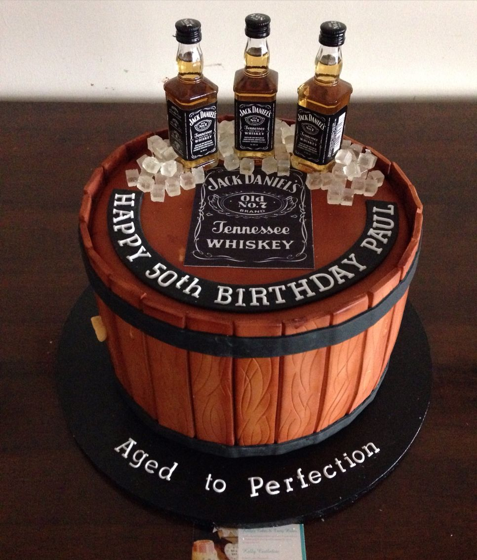 50Th Birthday Cakes For Men Jack Daniels Inspired Cake 40th