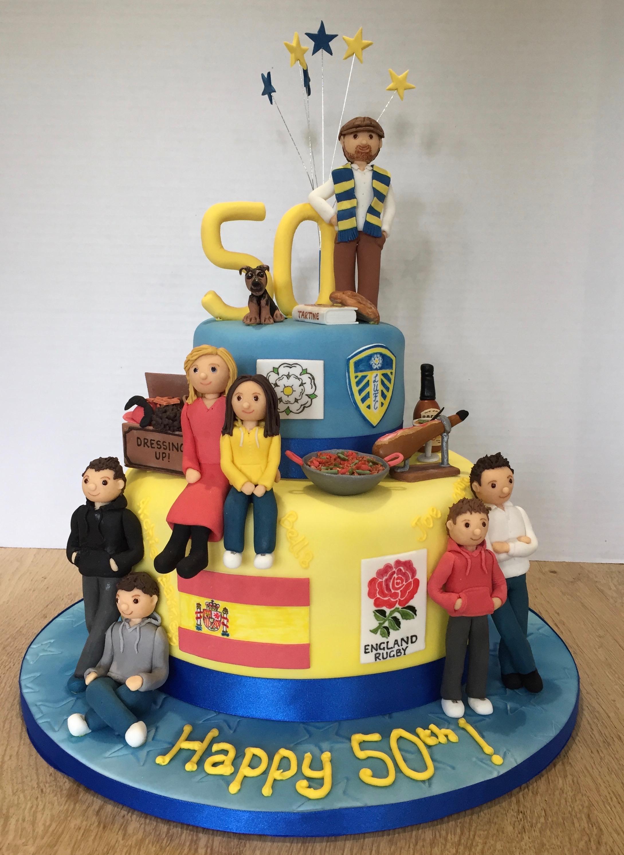 50Th Birthday Cakes Leeds Fan 50th Cake Sarah Bates