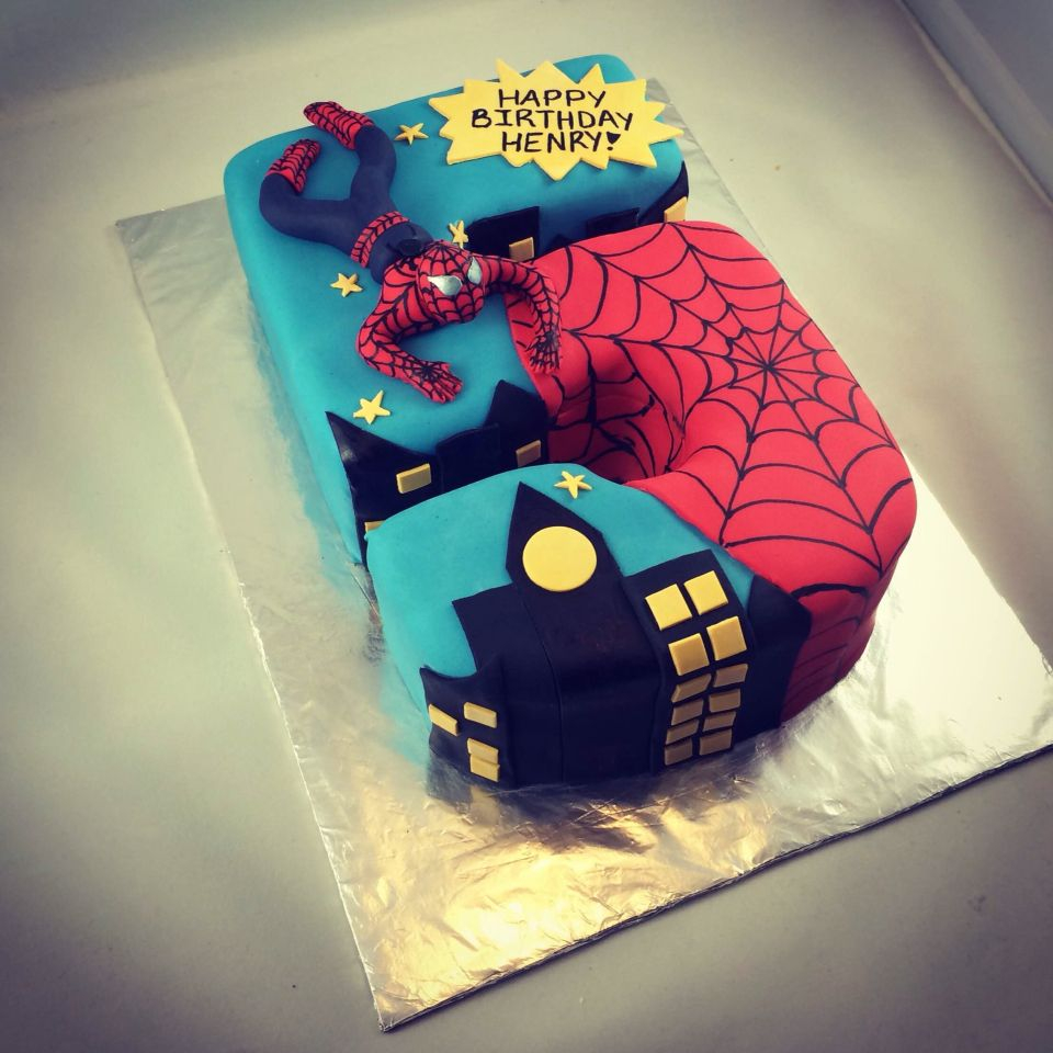 5Th Birthday Cake Spider Man For A Big 5 Year Old Boy Vanilla With
