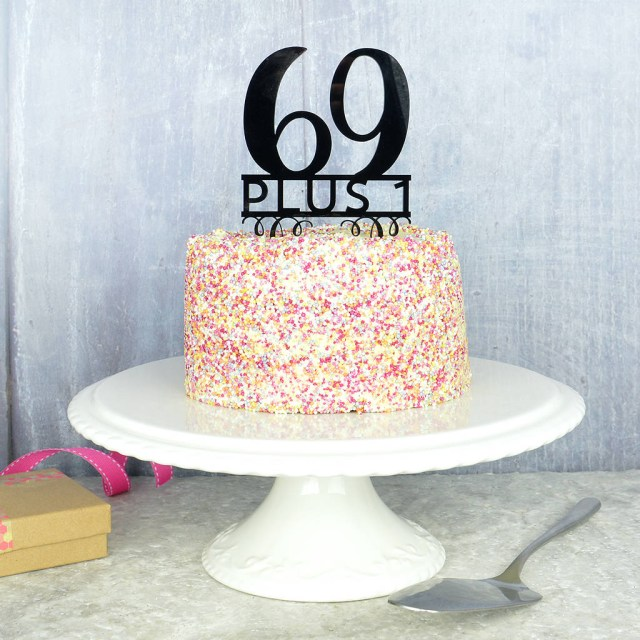 70Th Birthday Cake 70th Birthday Cake Topper Pink And Turquoise Notonthehighstreet