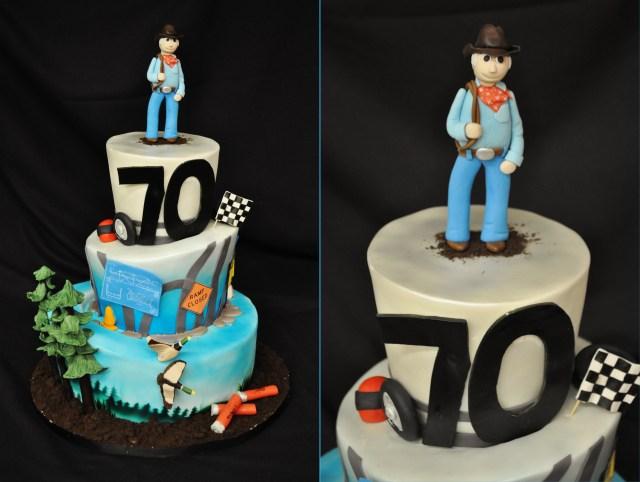 70Th Birthday Cake Milestone 70th Birthday Cake Thebakeboutique