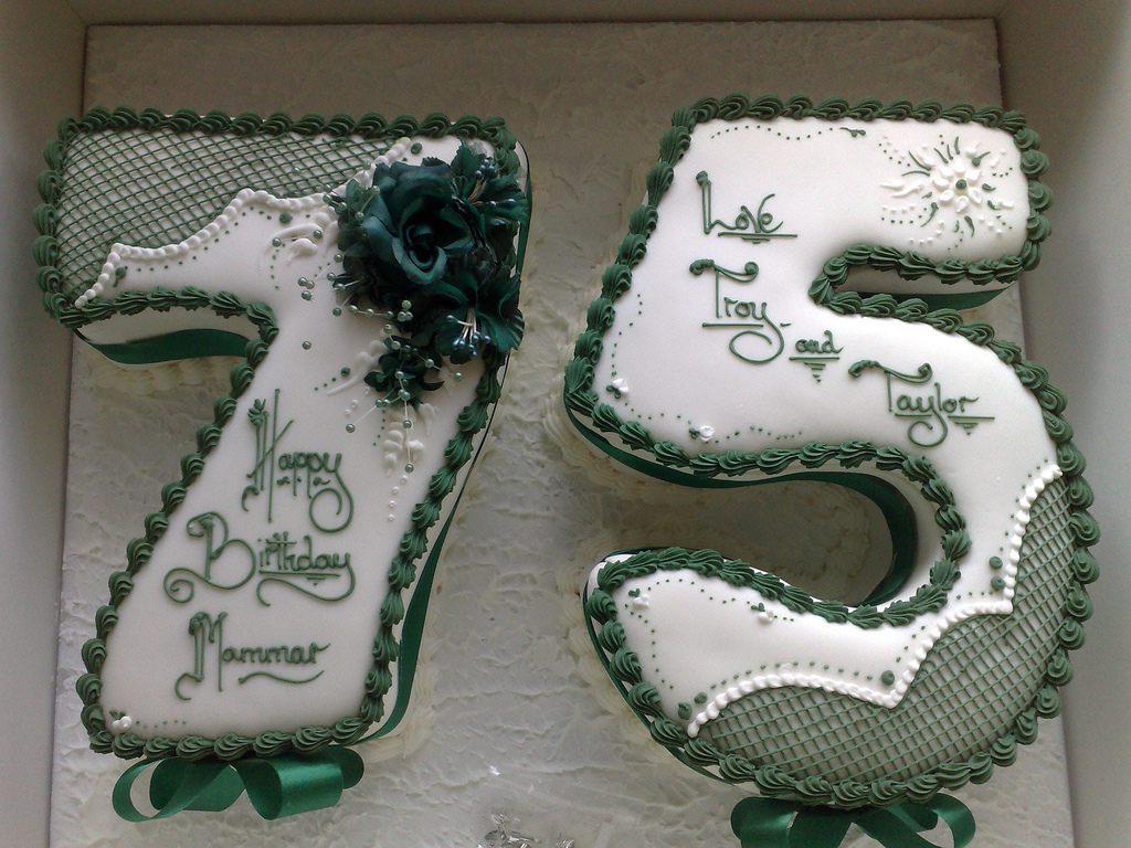 75Th Birthday Cake 75th For Mammar From The Two B Dean