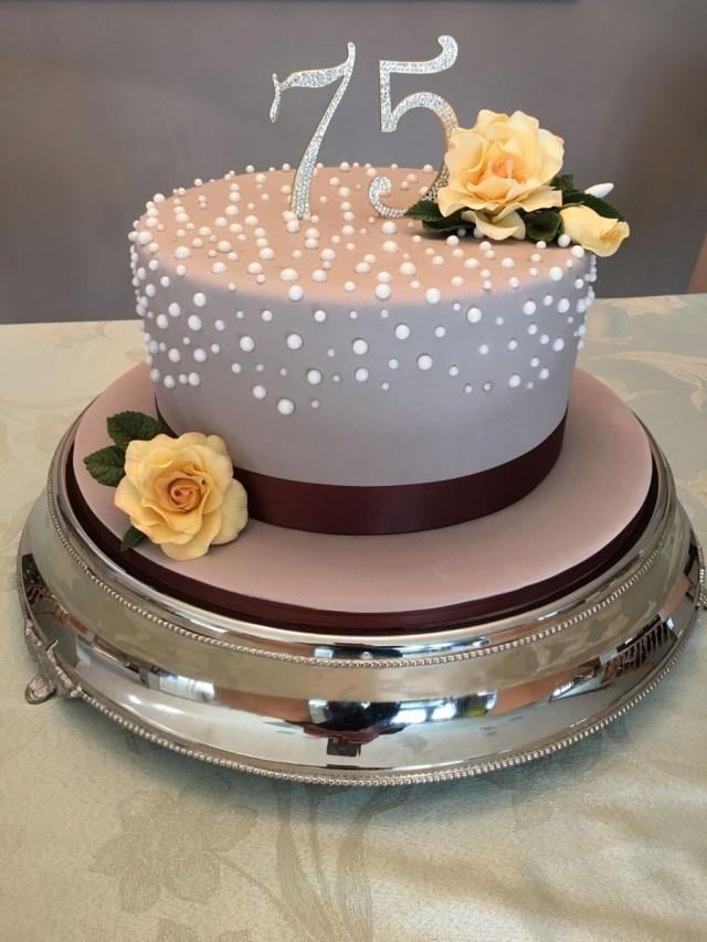75Th Birthday Cake 75th Birthday Cake On Cake Central 75th Birthday Party Pinte