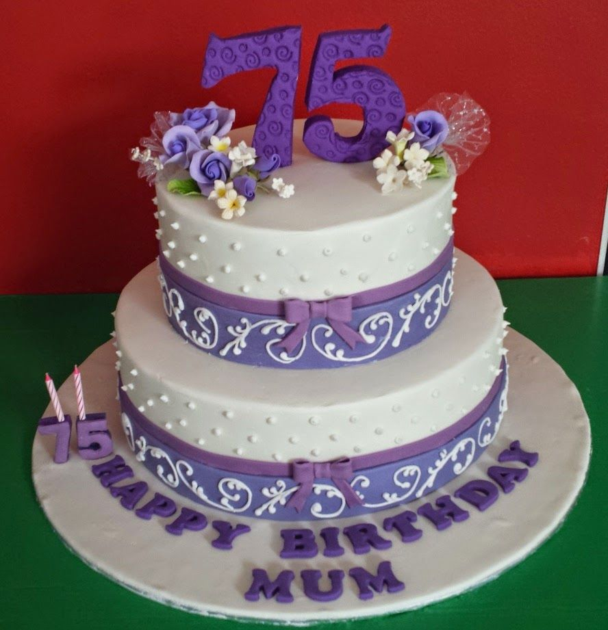75Th Birthday Cake 75th Yochanas Delight Happy