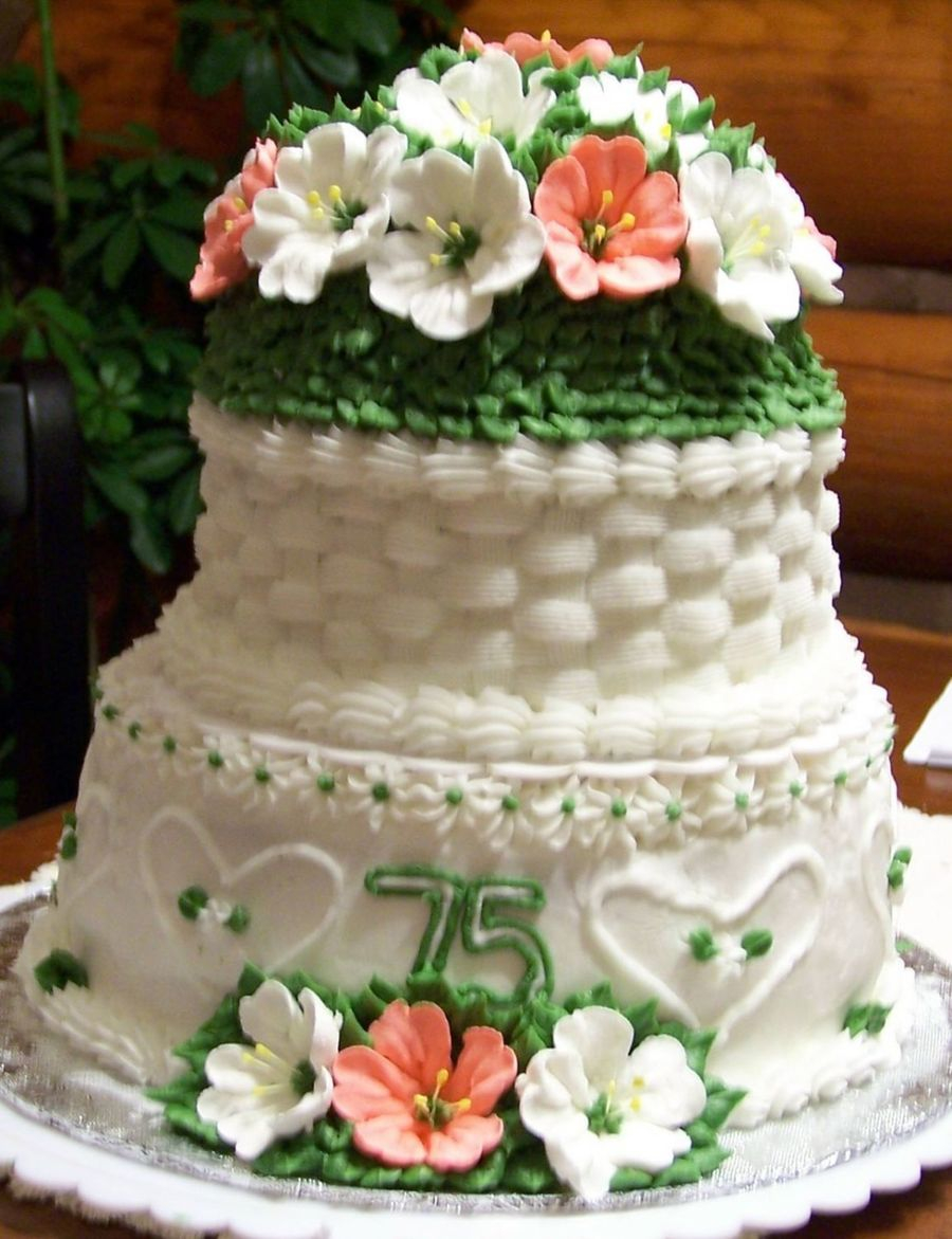 75Th Birthday Cake Grandmas 75th Cakecentral