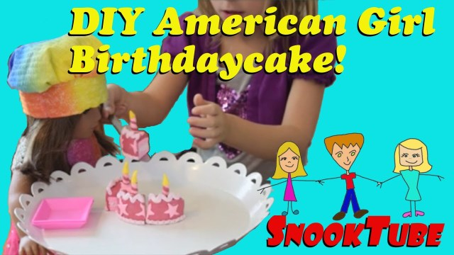American Girl Birthday Cake Diy American Girl Birthday Cake Youtube