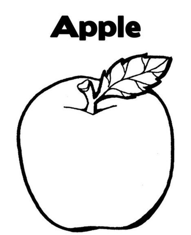 Apple Coloring Pages Apple Coloring Page Free Apple Fruit Coloring Pages Fruits Coloring