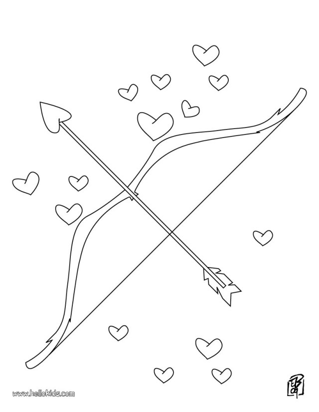 Arrow Coloring Pages Love Bow And Arrow Coloring Pages Hellokids