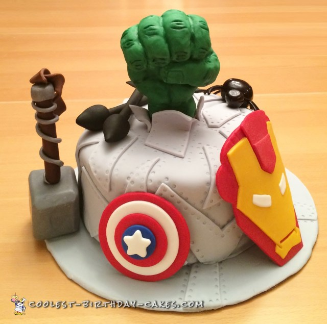 Avenger Birthday Cake Coolest Ever Avengers Birthday Cake